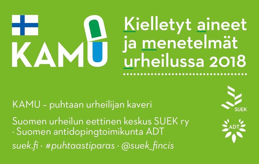 SUEK julkaisi Kielletyt Aineet ja Menetelmät Urheilussa vuodelle 2018