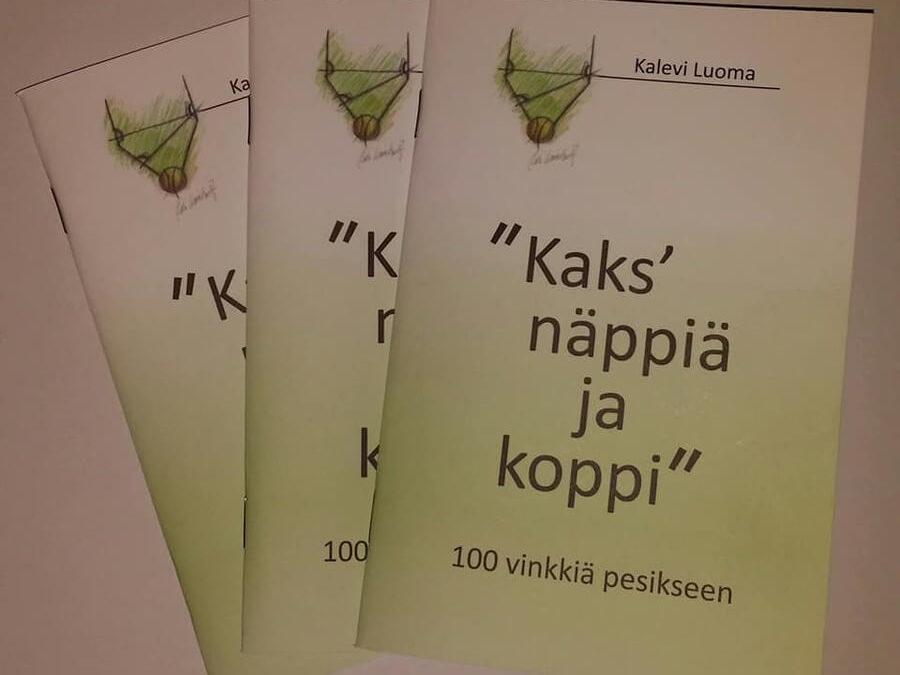 """Tilaa omaksi """"Kaks´näppiä ja koppi"""" – pesislegenda Kalevi Luoma kirjoitti oppaan junioripesäpalloilijoille"""