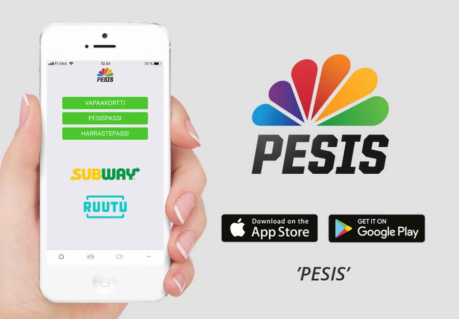"Uusi ""Pesis""-applikaatio siirtää vapaakortit digimuotoon"