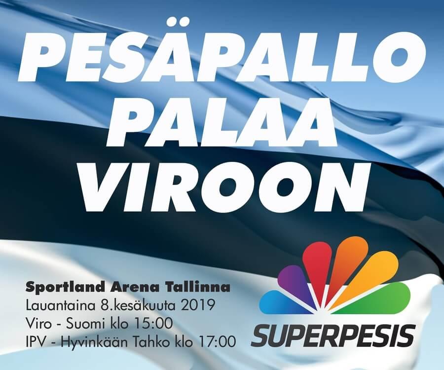 Pesäpallo palaa Viroon – otteluliput ja matkapaketit nyt myynnissä!