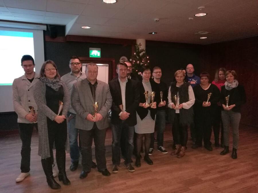 Komea rivi seurojen palkittuja Etelä-Pohjanmaan palkintogaalassa