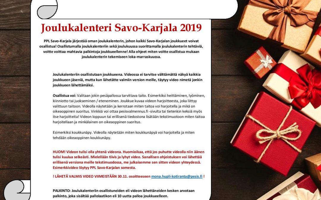 Osallistu joukkueesi kanssa Savo-Karjalan joulukalenterin tekemiseen!
