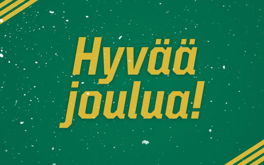 Iloista joulua ja menestystä tulevalle vuodelle!