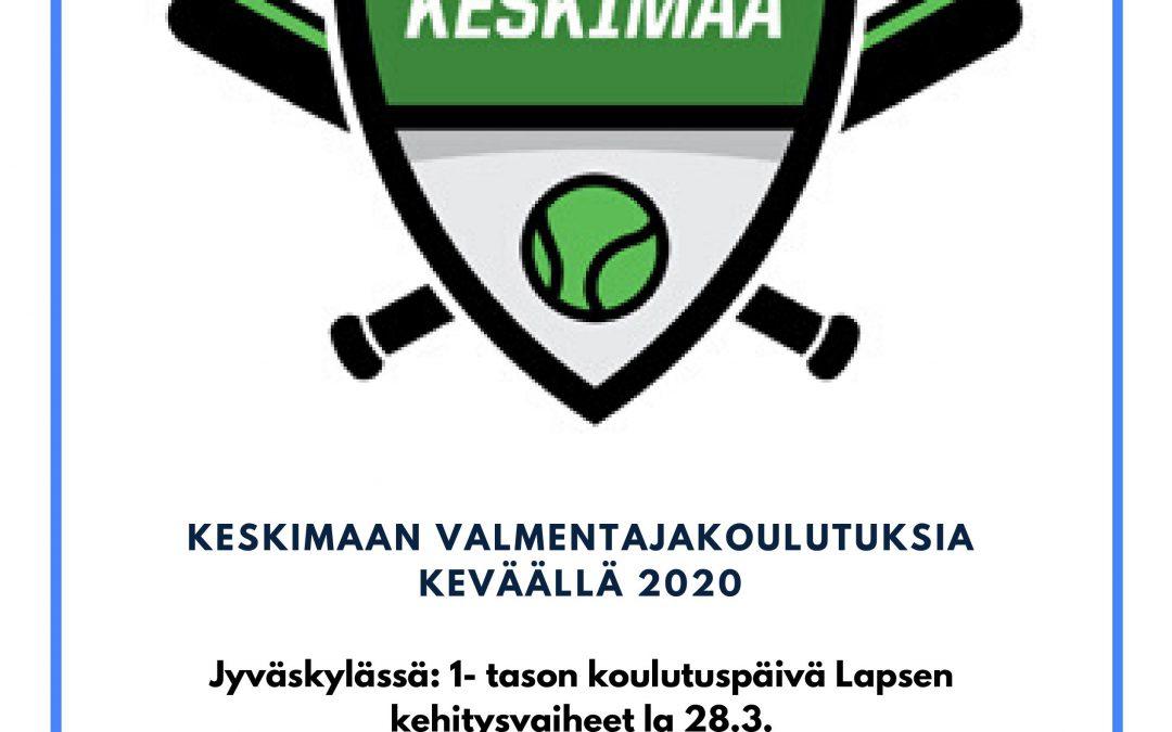Kevään 2020 Keskimaan alueen valmentajakoulutukset