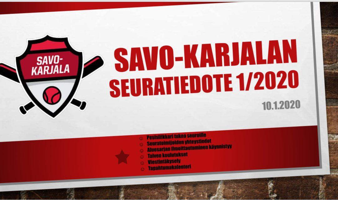 Savo-Karjalan seuratiedote 1/2020