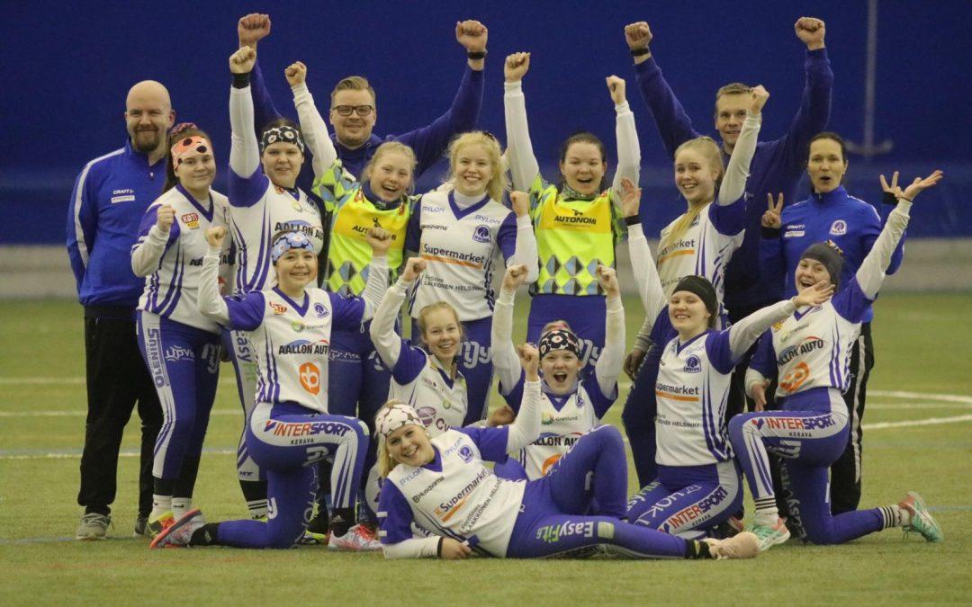 Roihu Helsingistä etenee kolmella voitolla B-tyttöjen Halli-SM-lopputurnaukseen!
