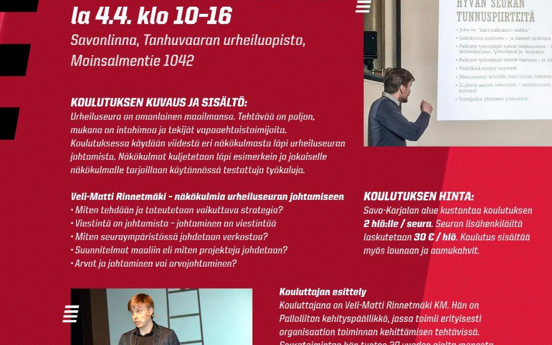 Infotilaisuuksia ja koulutuksia tarjolla Savo-Karjalan alueella!