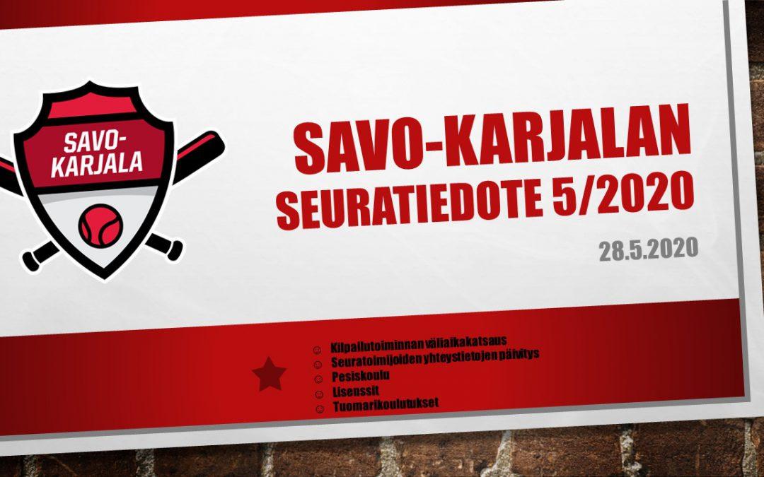 Savo-Karjalan seuratiedote 5/2020