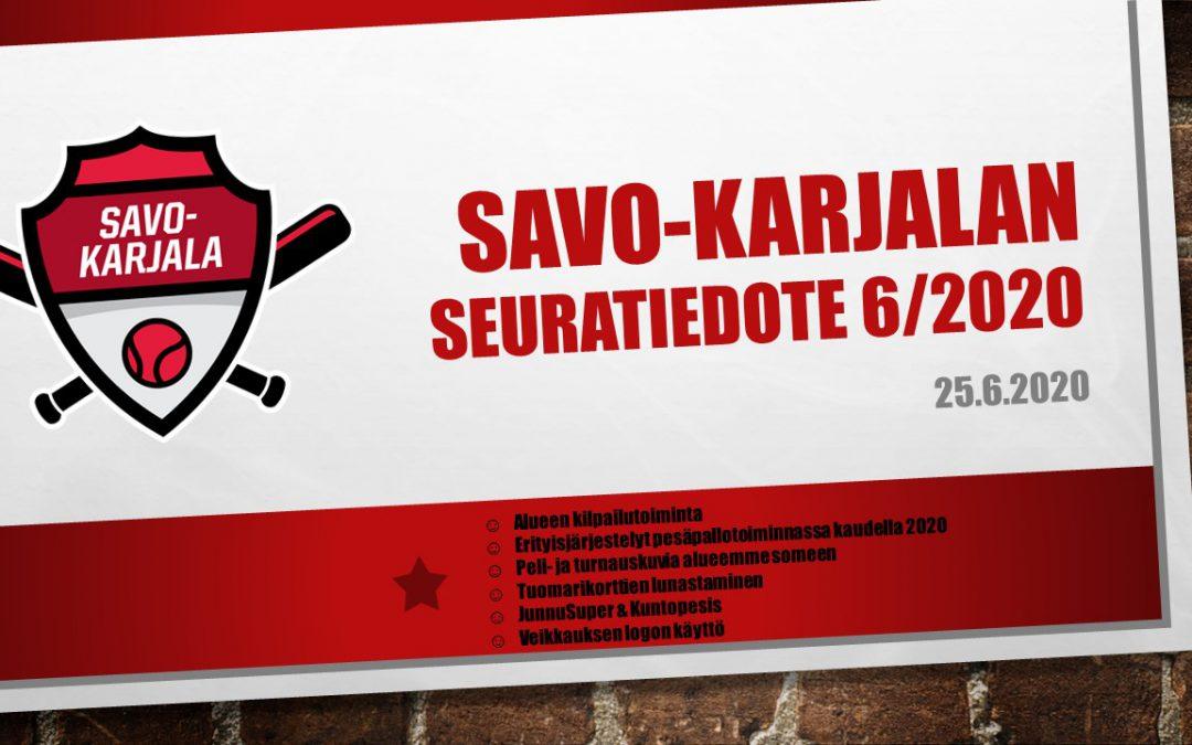 Savo-Karjalan seuratiedote 6/2020