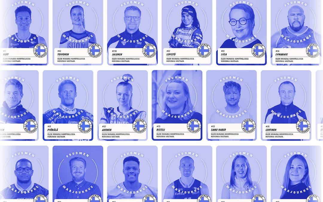 Liity urheilutähtien mukana Suomen maajoukkueeseen – ainoa ehto jäsenyydelle on urheiluseuran tukeminen!