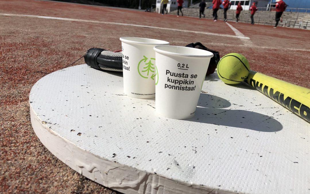 IPV luo tulevaisuuden ekourheilutapahtumaa – muovin sijaan uusiutuvia ja kierrätettäviä materiaaleja!