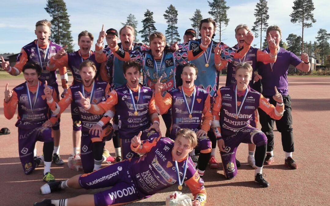 Sotkamon Jymy voitti jälleen poikien Superpesiksen Suomen mestaruuden