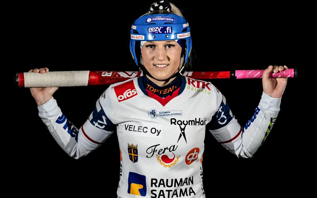 Jasmin Andreasen pelaa jo viidettä kertaa tyttöjen loppuottelussa ja hamuaa nyt kruunua juniorivuosilleen!